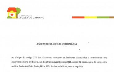 Assembleia Geral Ordinária   Convocatória