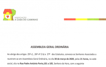 DESCONVOCAÇÃO DA ASSEMBLEIA GERAL ORDINÁRIA